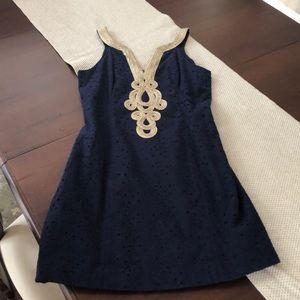 Lily Pulitzer  navy embellished dress